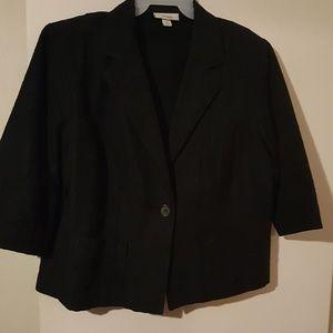 Black blazer jacket with pockets